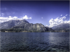 Como Lake (Luc V. de Zeeuw) Tags: bluesky clouds comolake mountain water bellagio lombardia italy
