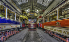 Crich Tramway Village 2 (Darwinsgift) Tags: crich tramway village museum national tram nikkor 14mm f28 d hdr photomatix transport matlock derbyshire uk england