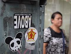 Only One Drink Team (jcbkk1956) Tags: bangkok thailand thonglo street sticker drink streetfurniture thai woman dof nikon d3300 nikkor 1855mmf3556 candid