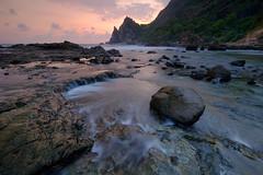 An end to a journey (nGkU Li) Tags: ngkuli nature indonesia watulumbung water flickrtravelaward fujifilm xpro2 seascape sea sunset rock slowshutter outdoor