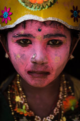 Makeover - Kulasekharapatnam, India (Kartik Kumar S) Tags: kulasekharapatnam tamilnadu india festivals makeup colors faces kid child muthumaran temple festival canon 600d tokina 1116 dushera eyes