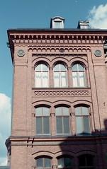 Sdra Latin (Trixi Skywalker) Tags: expired film canon av1 50mm 18 stockholm sweden sverige window house building architecture fujifilm superia 200 sdermalm