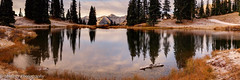Dusted in new Snow (OJeffrey Photography) Tags: crestedbutte snow reflection pond rockymountains mountains trees panorama pano ojeffrey ojeffreyphotography jeffowens nikon d800
