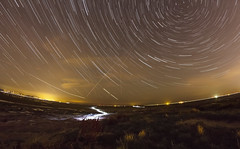 West Kirby Beach Star Trail (Rob Pitt) Tags: light pollution west kirby wirral stars hilbre island torch lit night sam
