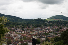 Looking over Freiberg 2 (stealthflower) Tags: 2016 blackforest europe freiberg germany june schlossberg travel landscape mountains panorama town