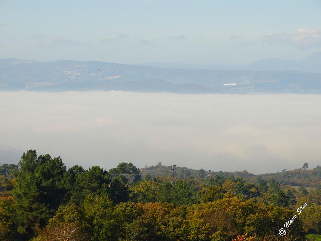 """Águas Frias (Chaves) - ... a névoa ... o """"mar"""" de Trás-os-Montes ..."""