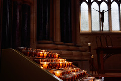 (JasonCameron) Tags: ireland kylemore estate abbey gothic candle light lit jesus christ cross castle