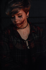 stoale_s2 (samanthatoalephotography) Tags: portrait portraiture night people outdoor halloween scary creepy makeup dark