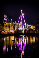 "Rollercoaster ""Wilde Maus"" on the Soester Allerheiligenkirmes (Tobias Schulte) Tags: achterbahn soest wilde maus rollercoaster funfair kirmes reflection reflektion mirror spiegel spiegelbild water wasser teich pond karussell carousel light licht lichter lights night nacht dark dunkel"