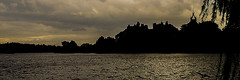 Linlithgow Palace Silhouette and Linlithgow Loch (Brian Travelling) Tags: historic historicscotland scotland linlithgow linlithgowpalace palace royalresidence maryqueenofscots