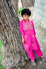 Shy girl posing to my camera, Gilgit, Pakistan (inchiki tour) Tags: travel photo film pakistan     pakistani  pamir karakoram   gilgit  people girl street road fashionable