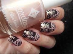 Jordana - Strawberry Surprise + BPL-024 (Barbara Nichols (Babi)) Tags: jordana strawberrysurprise rosa pink carimbo carimbada bpl024 nails mãos unhas nailart nailpolish rosas
