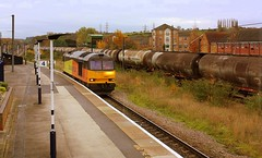 A Tug and its Train at Grantham (Chris Baines) Tags: colas 60002 platform 4 grantham rectory lindsey empty tanks