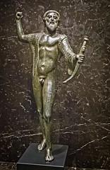 Etruscan Statuette from Apiro, Italy 460-450 BCE Bronze (mharrsch) Tags: etruscan statue bronze 5thcenturybce ancient nelsonatkins museum kansascity missouri mharrsch italy beard bow archer