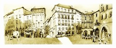Figeac - France (guymoll) Tags: figeac france ville town croquis sketch crayon bic