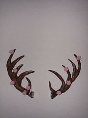 Finished antlers (lauren.bowis) Tags: antlers sculpey clay faun fawn floral sculpting