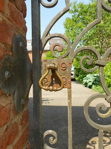 Powis Castle. Garden gate dated 1929.