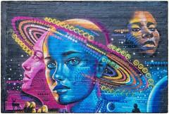 Cosmic Street Art (Andy J Newman) Tags: birmingham digbeth street streetart wall colour color nikon d500 colorefex custardfactory