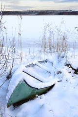 Canoe in snow. In Explore 27 nov 2016 (Helen Lundberg Photography) Tags: snow winter outdoors sweden swedish canoe boat inexplore explored