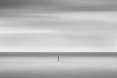 Lonely (marcus.James) Tags: sony a6000 sea longexposure minimal blackandwhite monochrome clouds seascape tripod mood bnw bw minehead nd filter hoya