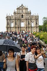 Macau (jaumescar) Tags: macau tourist umbrella people street selfie smile asia crowded chinese