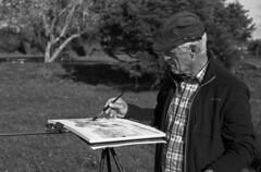 """""""Le Couple de Peintres sur la rive du Douron... Monsieur"""" (The Blue Water Lily's Company) Tags: fdrouet portrait retrato nb bw film"""