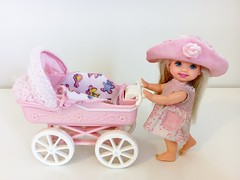 1998 Tiny Steps Kelly Doll #22226 (The Barbie Room) Tags: 1998 tiny steps kelly barbie doll 22226 1990s 90s baby sister pram stroller pink