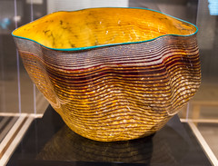 DUI_4967r (crobart) Tags: burnt sienna macchia with teal lip wrap 1984 chihuly glass art artwork tacoma museum washington