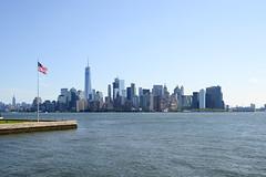 MircK - Manhattan (imNOTaPh) Tags: manhattan usa newyork skyline starsandstripes usaflag sky skycraper skycrapercity america nikon d3100 mirck trumptower worldtradecenter ellisisland ellis brooklynbridge