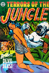 Terrors of the Jungle #7 (1953), cover by L. B. Cole (Tom Simpson) Tags: terrorsofthejungle 1953 cover lbcole comics comicbook 1950s illustration vintage art bondage bound tied