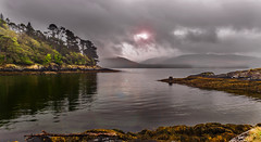 Overcast...+ wet lens! (tippjim) Tags: seascapes tippjim kerry nikon2470 nikon sky clouds ireland reflections