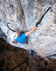 Tooling (Mike Brnnimann) Tags: climbing tooling young man boy teen hunk sport helmet extreme axe rock height