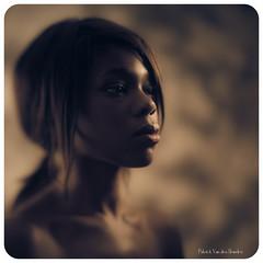 """Angèle"" - portrait 4 (patrickvandenbranden) Tags: 18x24 8x10 heliar african alternativeprocess feminity femme fineart grandformat largeformat pictorialist portrait studio vintage voigtlander30045 woman beauty face bea"