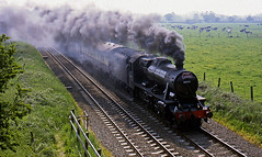 smokescreen (midcheshireman) Tags: steam train locomotive cheshire mainline 8f 48151 railway