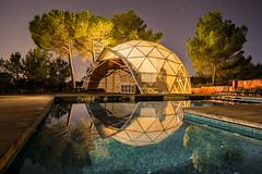 """Domo"" (Victor Francs) Tags: qi banyeresdemariola night nightfoto domo lallumdelanit pool canon 60d tokina 1116mm"