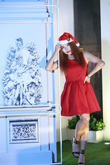 DP1U9996 (c0466art) Tags: share love christmas nightb photo beautiful decroration lamps nasa mogolia student pretty face eyes straight nose red color cloth east center street taipei portrait light canon 1dx c0466art