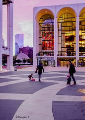 Dusk at Lincoln Center (Bruce Livingston) Tags: nyc newyorkcity architecture sky sunset dusk marcchagall themet