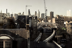 Urban London Across the Rooftops (ben veasey) Tags: london urban city skyscrapers whitechapel