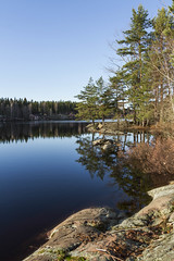 By the lake (A blond-Tess) Tags: lake sunny sunshine peaceful sweden reflection canonphotography canon shore swedish 7d sigma1750mmf28 quiet harmony happy fikatime walk