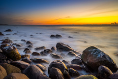 Rocky shore (Richard Larssen) Tags: richard richardlarssen rogaland larssen landscape light long emount exposure sony scandinavia sea seascape sunset sel1635z scenery a7 jæren nd110 horizon hå