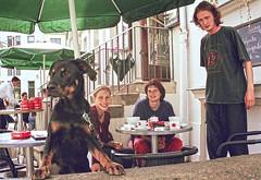 @Resi with... (E.C.L.) Tags: people dog caf analog weimar thringen thuringia peter hund pepe uli residenz resi residenzcaf ukrike resiweimar