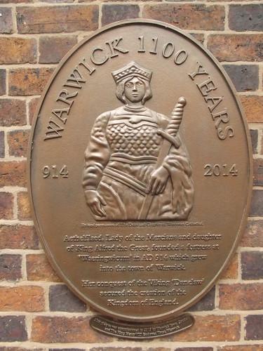 Castle Street, Warwick - plaque - Warwick 1100 Years