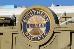 SP Bridge, San Jose (Ian E. Abbott) Tags: southernpacificlines southernpacificrailroad southernpacific sp railroadbridge sanjose santaclarastreet thealameda sign signs signofthetimes