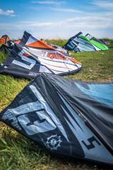 Kiting at Keho Lake in 60-90km/h winds = small kites.