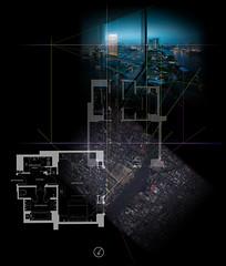 constructing the prism (Willem van den Hoed) Tags: composition bangkok deluxe horizon perspective prism peninsula floorplan chaophraya perpsective tafereel verdwijnpunt perspektief