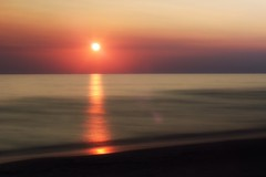 One down.... (s@ssyl@ssy) Tags: longexposure sunset reflection beach water sand lakehuron saublebeach sandyshore
