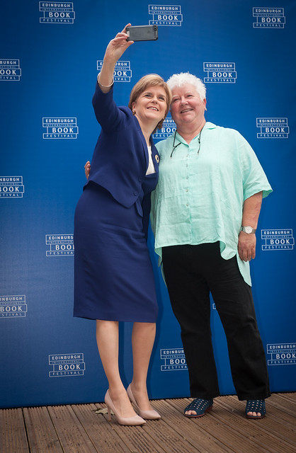 Selfie time with Val McDermid & Nicola Sturgeon