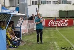 Juan Fidalgo observando el partido (Dawlad Ast) Tags: b espaa de real spain juan asturias luanco agosto estadio oviedo futbol ida miramar copa marino partido filial semifinal entrenador federacion 2015 fidalgo vetusta banquillo