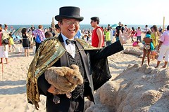 Dr. Takeshi Yamada and Seara (sea rabbit) as one of the official Judges for the 25th Anniversary Coney Island Sand sculpting Contest at the Coney Island Beach in Brooklyn, NY on August 15, 2015. 20150815. Photo by Edward Leavy Jr. (searabbits23) Tags: ny newyork sexy celebrity art hat fashion animal brooklyn painting asian coneyisland japanese star costume tv google king artist dragon god cosplay manhattan wildlife famous gothic goth performance pop taxidermy cnn tuxedo bikini tophat unitednations playboy entertainer takeshi samurai genius mermaid amc johnnydepp mardigras salvadordali unicorn billclinton billgates aol vangogh curiosities sideshow jeffkoons globalwarming takashimurakami pablopicasso steampunk yamada damienhirst cryptozoology freakshow barackobama seara immortalized takeshiyamada museumofworldwonders roguetaxidermy searabbit ladygaga sandsculptingcontest climategate minnesotaassociationofroguetaxidermists