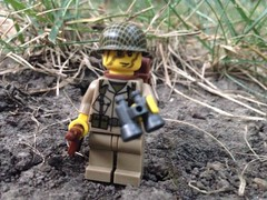 Lost in Normandy (ranger3181) Tags: world 2 two brick infantry america army us war lego painted united collection equipment figure ww2 second soldiers guns marines uniforms states custom airborne decals weapons paratrooper minfig brickarms